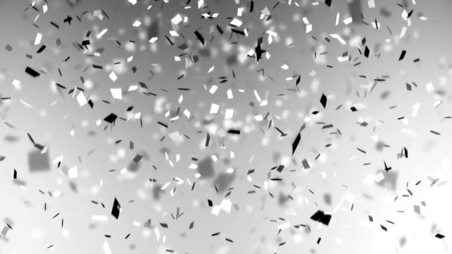 confetti hd on white background - celebration stock videos & royalty-free footage