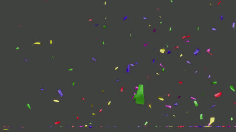 konfettipartiet popper explosion. alfa kanal kommer att inkluderas när du hämtar 4k apple prores 4444-fil endast. - konfetti bildbanksvideor och videomaterial från bakom kulisserna