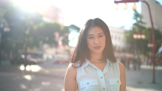 confident asian woman portrait in the city - only mid adult women stock videos and b-roll footage