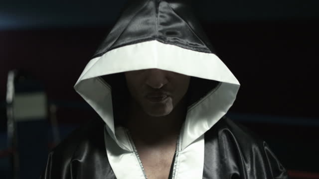 confident  boxer wearing boxing robe - robe stock videos & royalty-free footage