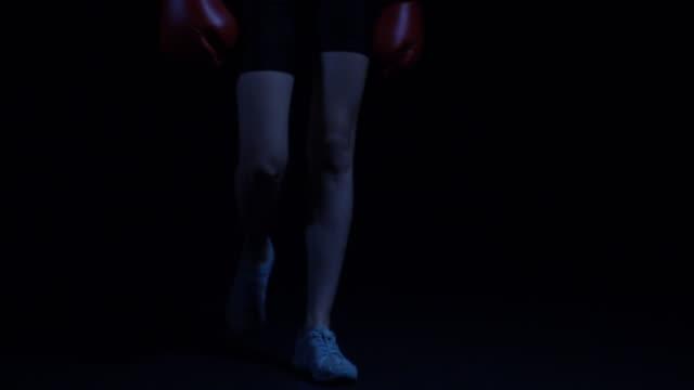 Confident boxer women