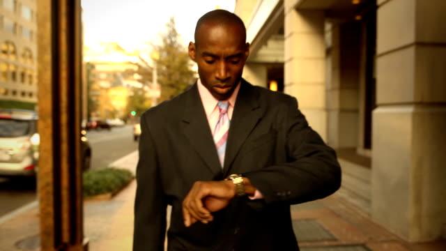 Confident Business Man Walking