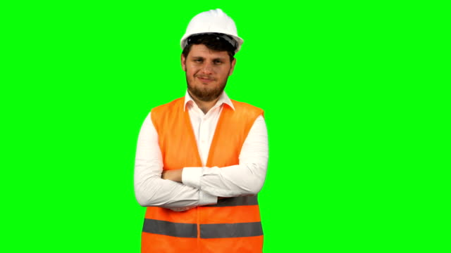 Confident Engineer Man looking at camera