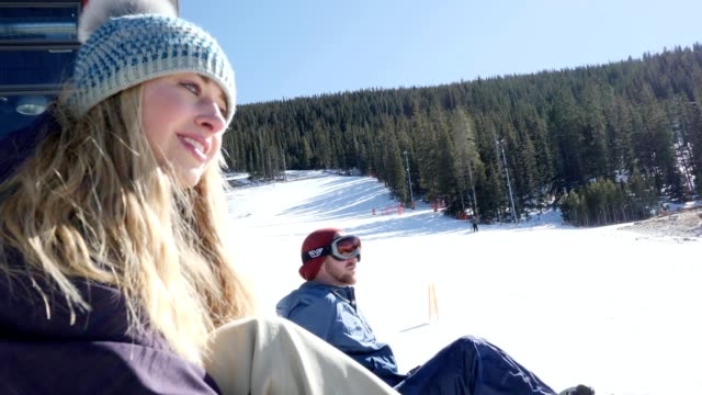 confident female snowboarder secures boot to snowboard - ski holiday stock videos & royalty-free footage