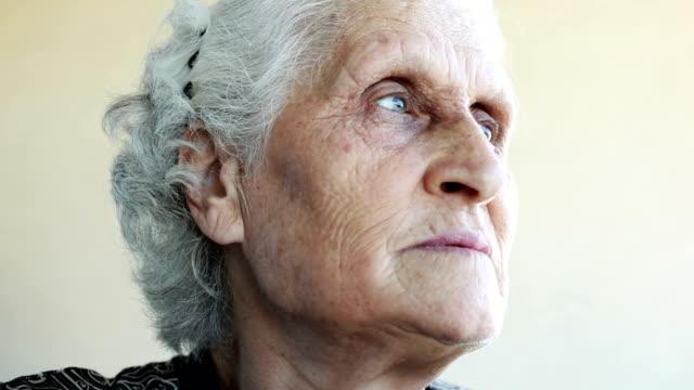 Confident senior woman closeup portrait