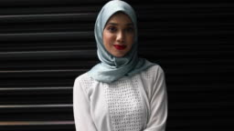 Confident Young Muslim Woman