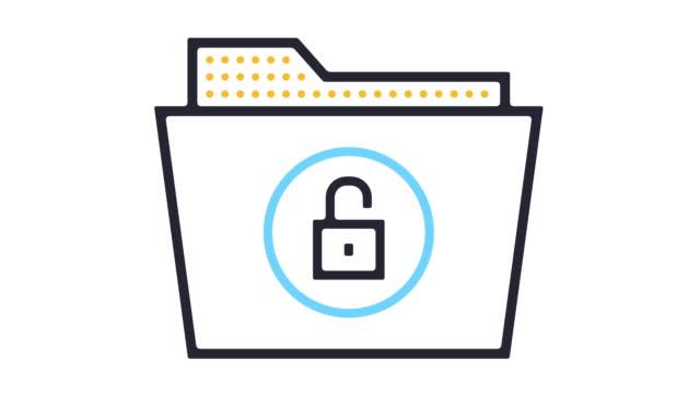 confidentiality icon animation - fare la guardia video stock e b–roll