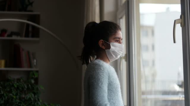 confinement for the coronavirus pandemic - girls stock videos & royalty-free footage