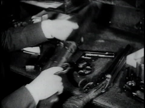confiscated handguns, shotguns, and rifles / ohio, united states - 1934 stock videos & royalty-free footage