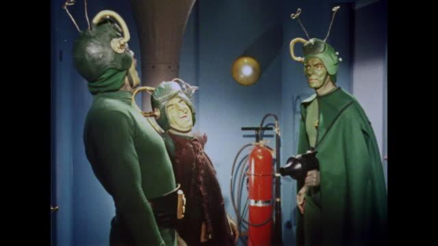 1964 conflict arises between martians - 宇宙人点の映像素材/bロール
