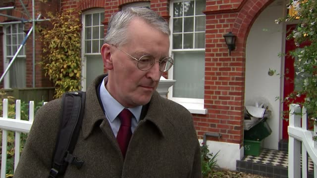 british jets take part in first air raids following commons vote london ext hilary benn mp interview sot now that the house of commons has made its... - hilary benn stock-videos und b-roll-filmmaterial