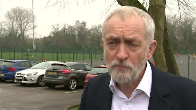 Cabinet meets over Syria military action ENGLAND Derby EXT Jeremy Corbyn MP interview SOT More bombing more killing more war will not save life will...