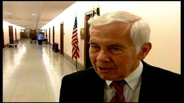 diplomacy; senator richard lugar interview sot - we're not a bystander / the g8 conclusion that the hezbollah attacks were the disproportional... - diplomacy stock videos & royalty-free footage