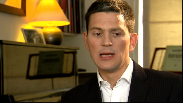 debate on whether syrian rebels should be armed by the west england london int david miliband mp interview sot my fear is that all that we... - humility stock videos and b-roll footage