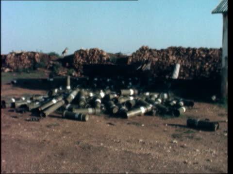 ethiopian tank base at jijiga captured somalia jijiga a nat story ms abandoned ethiopian tank hills and town in b/g zoom in and pan lr ms abandoned... - 1977 stock videos & royalty-free footage