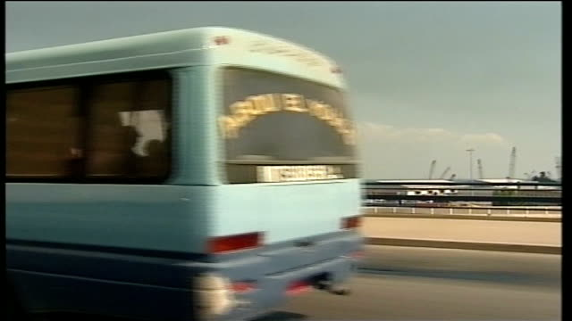 evacuations int car bus along on highway seen from point of view of car overtaking - overtaking stock videos and b-roll footage