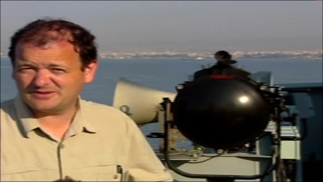 evacuations limassol seen from deck of ship pan to reporter to camera - eurasia stock videos and b-roll footage