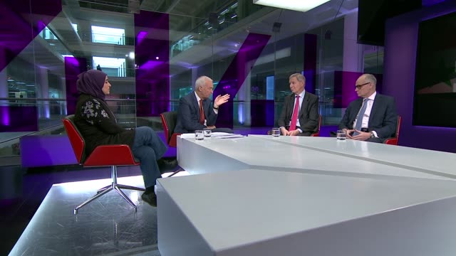Five years of war John Kerry accuses Islamic State militants of comitting genocide against minorities ENGLAND London GIR INT Muzna AlNaib LIVE STUDIO...