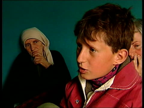 Kosovo Refugees ITN ALBANIA Kukes Sadri Shala interview SOT Talks of bombing of building Selim Shala interview SOT Everything was destroyed / Talks...