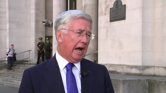 offensive to retake mosul from islamic state to begin soon england london whitehall ministry of defence ext michael fallon mp interview sot mosul is... - isil conflict stock videos & royalty-free footage