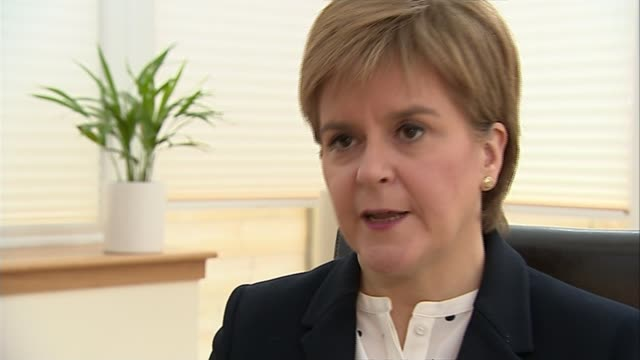 Theresa May to trigger emergency Commons debate on military action SCOTLAND INT Nicola Sturgeon MSP interview SOT Clearly the clock can't be turned...