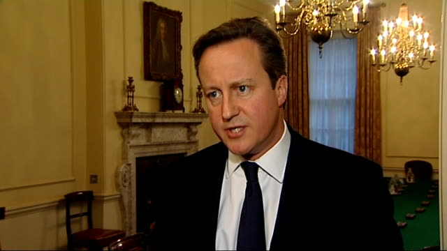 us and eu consider sanctions as russia takes control of crimea england london int david cameron mp interview sot this is deeply concerning and what... - 制裁点の映像素材/bロール