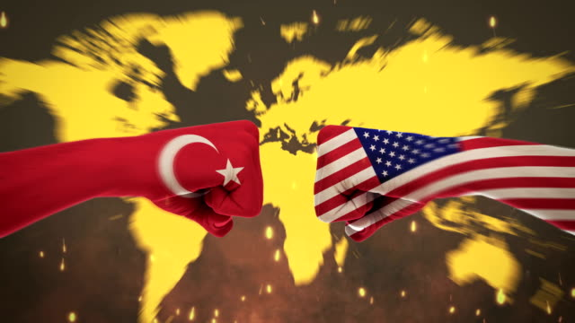 4k conflicts between countrie, america turkey - turkey stock videos and b-roll footage