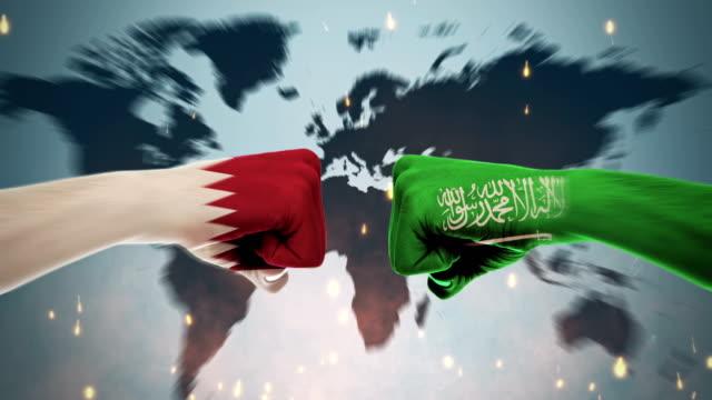 4k conflicts between countries - qatar and saudi arabia - qatar stock videos & royalty-free footage