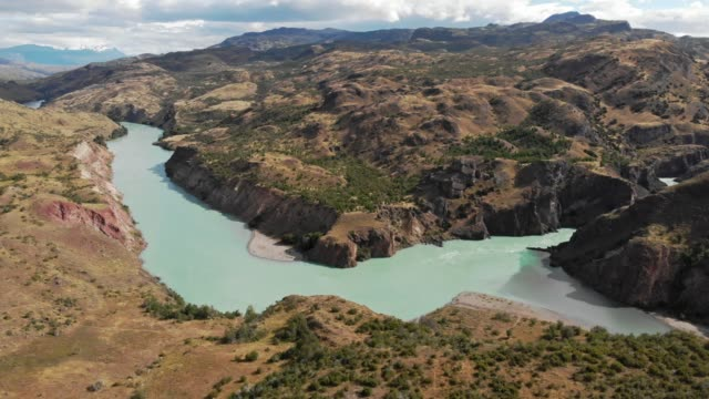 confluence of baker and neff rivers in the chilean patagonia - mountain range stock videos & royalty-free footage