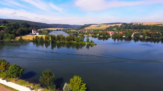 Confluence of Danube And Naab Rivers In Bavaria