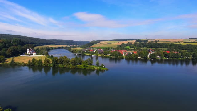 confluence of danube and naab rivers in bavaria - upper palatinate stock videos & royalty-free footage