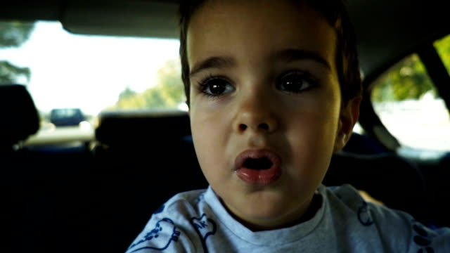 confused little boy - grimacing stock videos & royalty-free footage