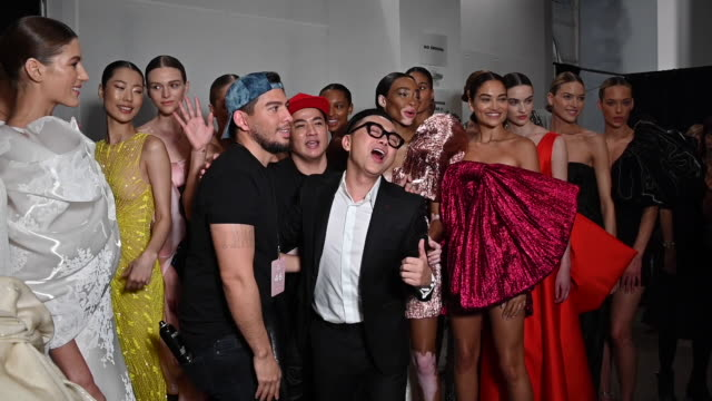 Cong Tri group picture at New York Fashion Week 2019 Alternative Views on February 20 2019 in New York City
