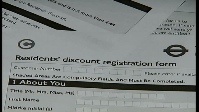 Madonna anger INT Residents discount registration form for the Congestion Charge
