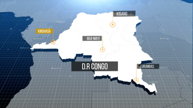 dr congo map with label then with out label - graphic war footage stock videos & royalty-free footage