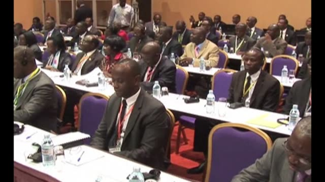 congo president joseph kabila and his rwandan counterpart paul kagame attended the fourth summit of heads of state and government of the... - kampala stock-videos und b-roll-filmmaterial