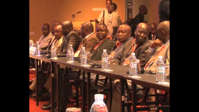 congolese rebels and government officials open tense talks with both sides vowing to end a crisis that has led to widespread atrocities and sparked... - kampala stock-videos und b-roll-filmmaterial