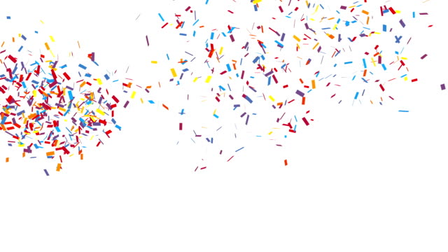 congratulation party confetti - confetti stock videos & royalty-free footage