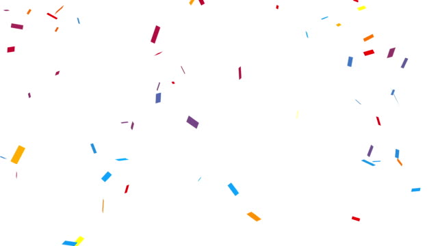 congratulation party confetti with alpha channel - confetti stock videos & royalty-free footage