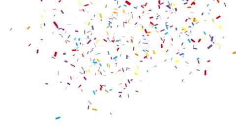 gratulationen party konfetti med alfakanal - konfetti bildbanksvideor och videomaterial från bakom kulisserna
