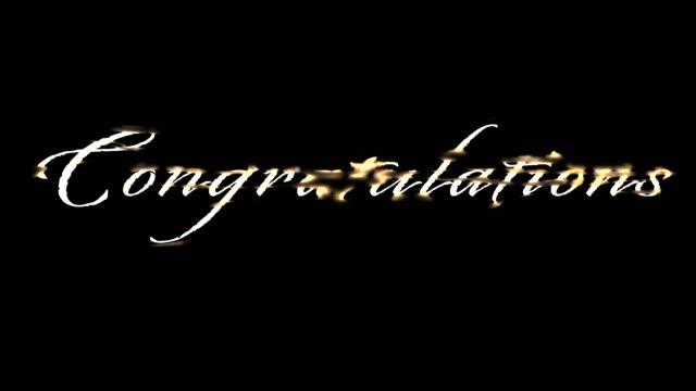vídeos de stock, filmes e b-roll de parabéns ouro fundido script - sc47