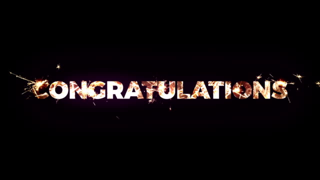 congratulations text made of bengal lights - congratulating stock videos & royalty-free footage
