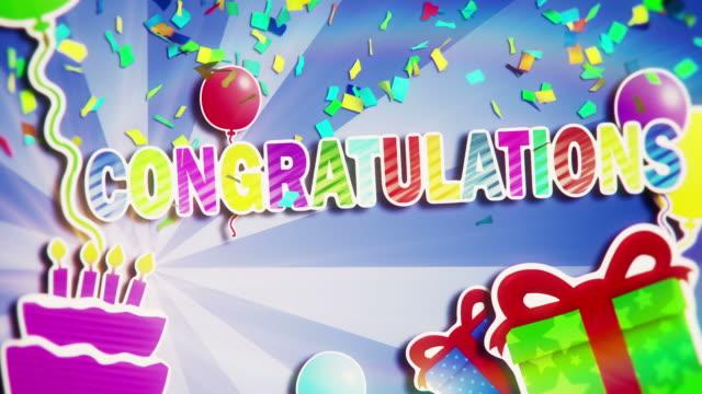 congratulations - message stock videos & royalty-free footage