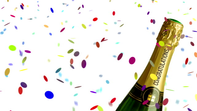 congratulations (alpha matte included) - congratulating stock videos and b-roll footage
