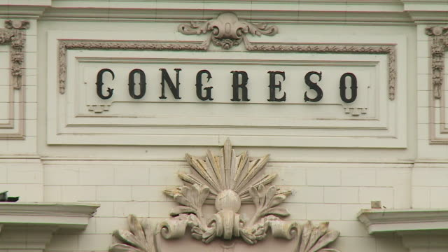 congreso sign on legislative palace - congreso stock videos & royalty-free footage