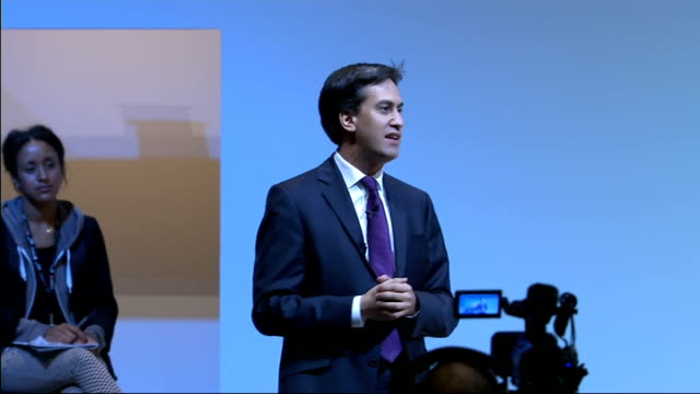 Ed Miliband gives speech Miliband speech SOT Extraordinary that I have to tell this historical lesson from the past but I do Current leader of the...