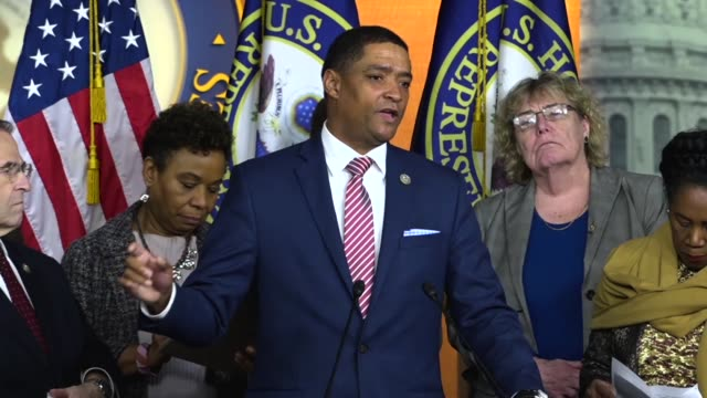 Congressional Black Caucus Chairman Cedric Richmond of Louisiana says at a press conference on introducing a censure resolution against President...