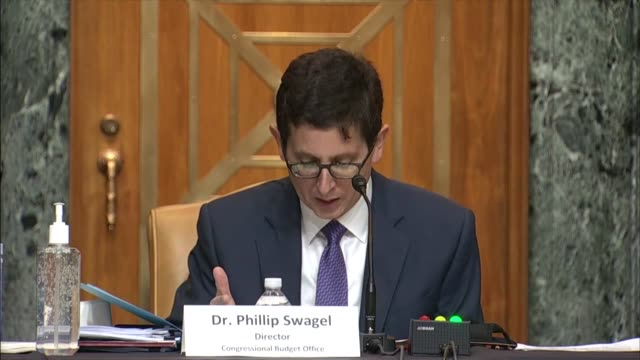 congressional budget office director phillip swagel testifies before the senate budget committee on the us fiscal outlook that the federal that held... - enacting stock videos & royalty-free footage