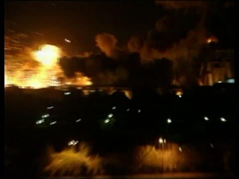 congressional hearing into al qaeda attacks begin lib ls buildings exploding during attack during the iraq war - al qaida stock videos & royalty-free footage