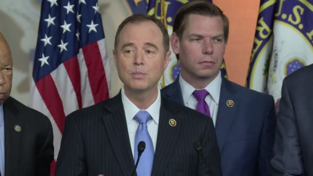 congressman adam schiff, a democrat from california, and the top democrat on the house intelligence committee, on the investigations into russian... - election stock videos & royalty-free footage